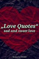 Screenshot of Love Quotes sad and sweet love