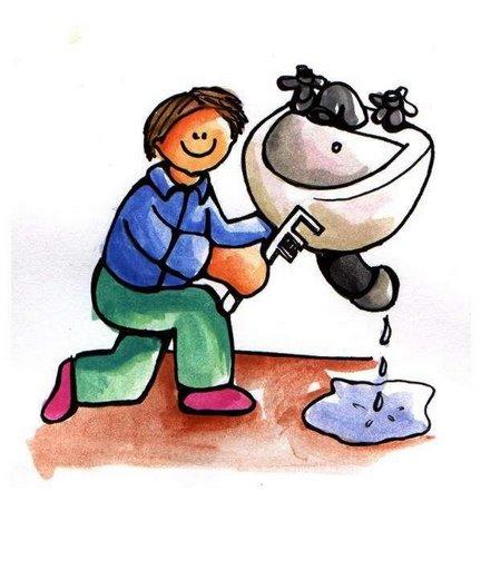 Los oficios y sus objetos 2 - El fontanero en casa ...