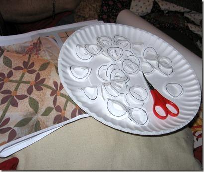 Poinsettia Aplq prep work