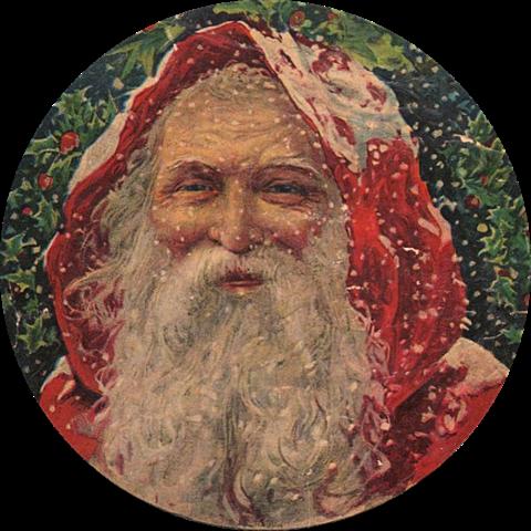 Santa victorian round