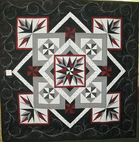 Paper pieced black w red
