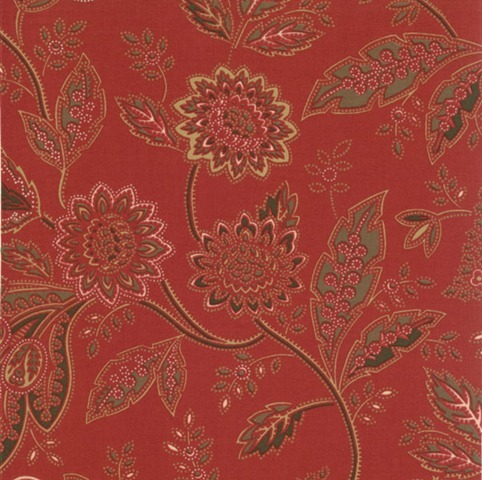 Civil War Reunion red paisley floral