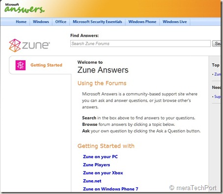 Zuneanswers