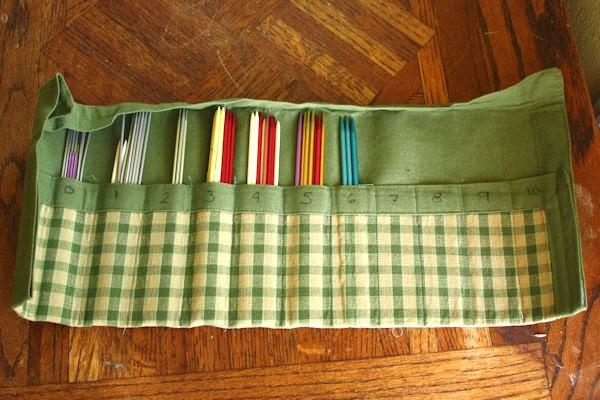 Knitting Needle Case Diy : Pezjunky diy double pointed knitting needle case