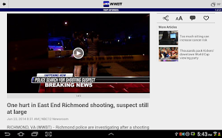 Screenshot of WWBT NBC12 News