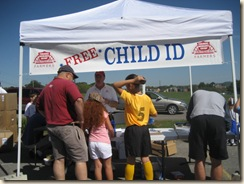 Stop by my tent for your free child I.D. Kit!