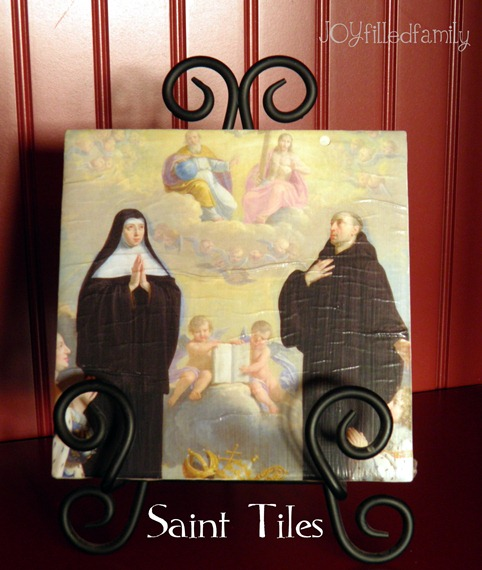 st scholastica sain tiles display  joy