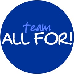 ALL FOR! blue logo