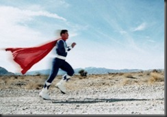 Superhero Running --- Image by © Corbis
