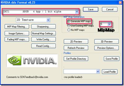 NVIDIA dds Format v8.23