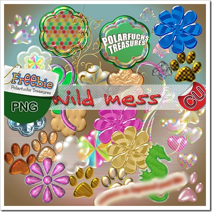 http://polarfuchs-treasures.blogspot.com/2009/09/wild-deco-mess-cu-freebie.html