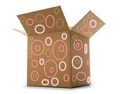 PINK CARDBOARD BOX