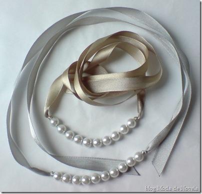 pulseira de cetim com pérolas moda de novela estilo luciana