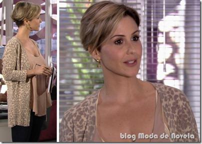 Oncinha em look nada a ver da Luisa capítulo do dia 17 de setembro: