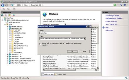 IIS: Set session state module