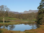 Langdale Pikes from Brathay