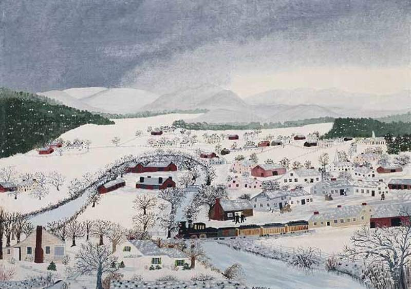 g moses hoosick falls in winter