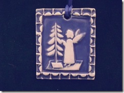 Blue and White Angel Tile