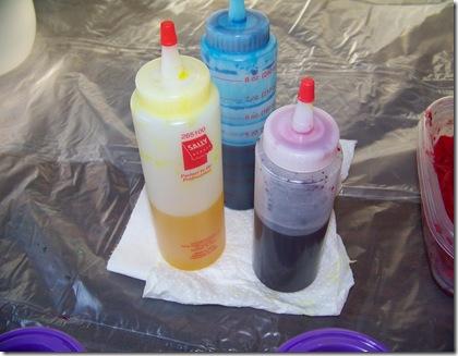 dye mixed