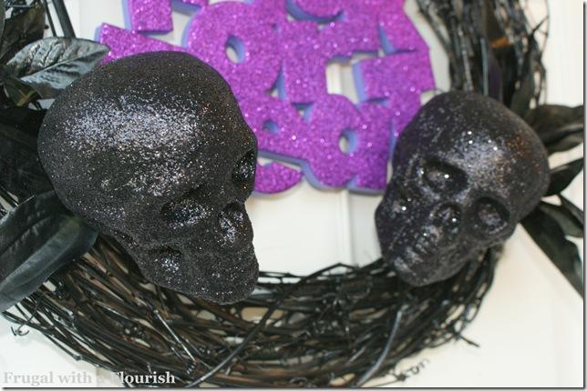 Glittery Skulls