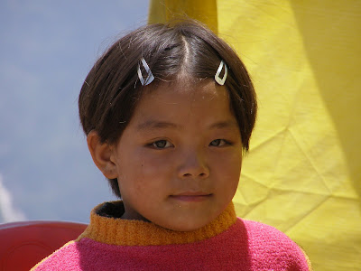Tibetan Girl at the Maggi stall