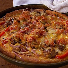 Sausage, Onions, and Peppers Deep-Dish Pizza - Chicago Style Pizza
