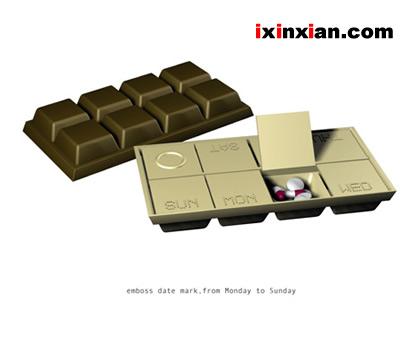 巧克力药片盒-爱新鲜