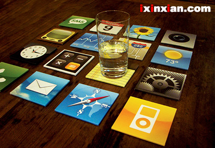 iPhone杯垫(iPhone Coasters Set)-爱新鲜