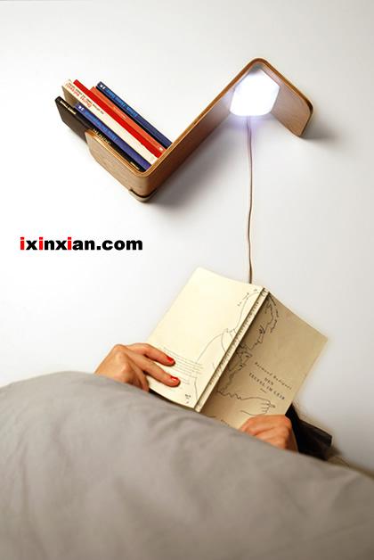 Lili Lite:床头灯+书架+书签的完美组合-爱新鲜