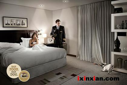 创意宠物广告:Bad food, bad dog…-爱新鲜