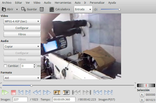 Girar videos con Avidemux