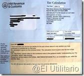 Reclamo PAYE Inglaterra - Notificación de devolución