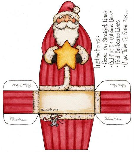 plantilla caja de regalo de navidad