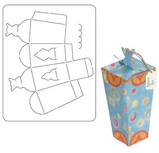 esta primera plantilla de cajas de regalo puedes colorear a tu gusto