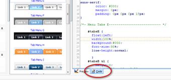 CSS tab menu4