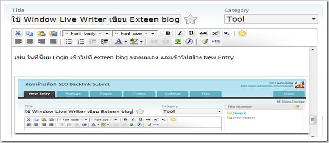 เครื่องมือช่วยเขียนบล็อก แต่ blog ทำ blog