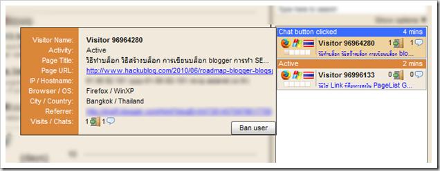 ใส่กล่อง Chat ใน blog blogger