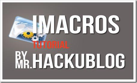 IMacros Tutorial สอนใช้งาน Imacros