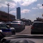 Braving Austin traffic to run a few Spruce errands