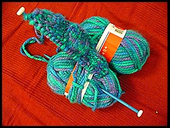 yarn, knitting, needle, knit 005