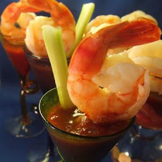 Shrimp With Spicy Bloody Mary Sauce