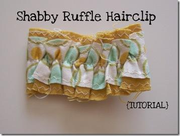 Shabby Ruffle Tute