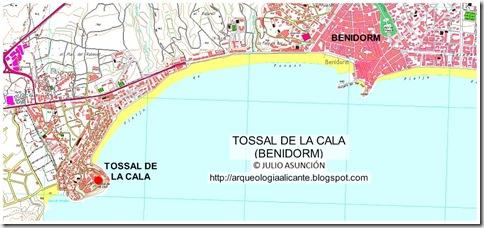 Mapa Tossa de la Cala