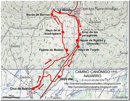 Mapa Camino Canónigo Navarro