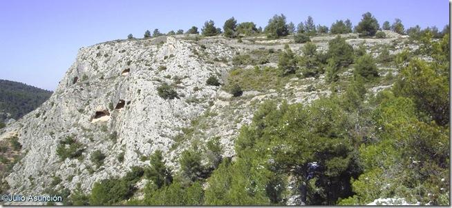 Vista del espolón donde se encuentra el poblado ibero