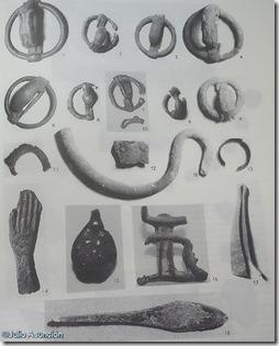 Objetos encontrados en El Puntal de Salinas