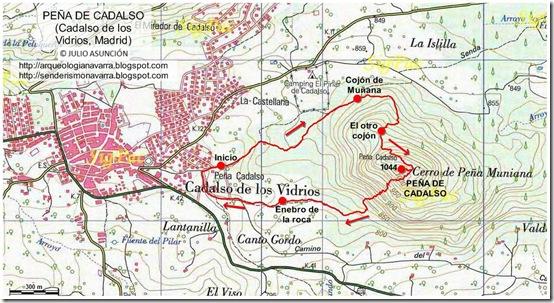 Mapa Peña de Cadalso