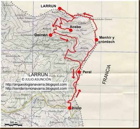 Mapa Larrun