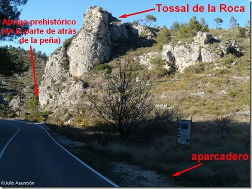 Aparcadero - Tossal de la Roca - Vall d´Alcala