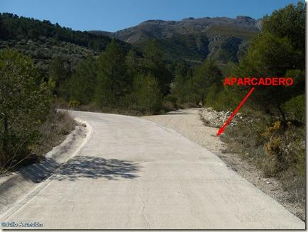 Inicio ruta arte rupestre del Barranco de Famorca - Alicante
